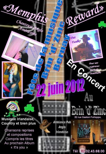 Memphis Reward, country music, musique irlandaise, bernay, normandie, eure,