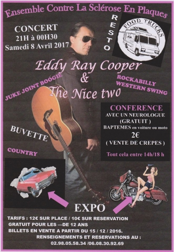 Eddy Ray Cooper, country-music, rockabilly music, bretagne, finistère,