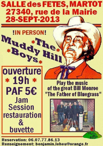 Martot, eure, concert, country music, hillbilly music, bluegrass music, bill monroe,