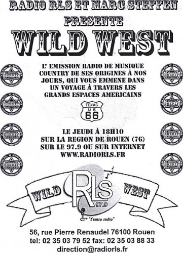 émission, country music, wild west, radio la sentinelle,